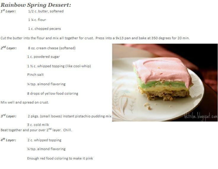 ... cheesecake, pistachio pudding dessert on a pecan-sandie-like crust