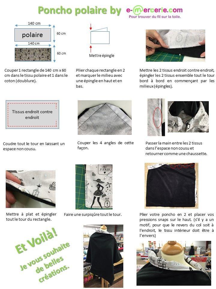 "Tuto poncho polaire - e-mercerie.com ""le blog"""