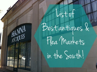 best antique stores in the south, flea markets in the south, southern antiques