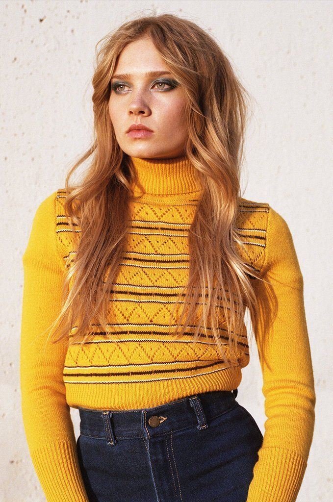 99782b8f6ce2e Roxy Turtleneck Sweater in Yellow   FASHION   Turtle neck, Sweaters ...