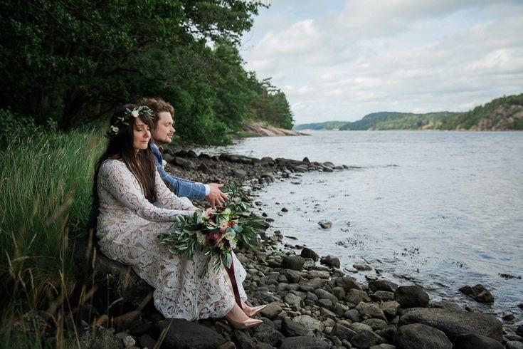 Bröllopsfotograf Lysekil och fotograf Vann Spa på ryskt bröllop utomhus mellan Svetlana
