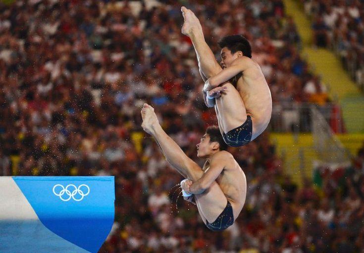 Olympics 2012: Cao Yuan und Zhang Yanguan (Wasserspringen, 10 Meter Turm): Die beiden Chinesen sind erst 17 und 18 Jahre alt und gewannen souverän die Goldmedaille.