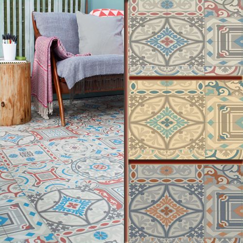 Mosaic Tile Design Cushioned Vinyl Flooring Slip Resistant Sheet Cushion Floor in Home, Furniture & DIY, DIY Materials, Flooring & Tiles | eBay
