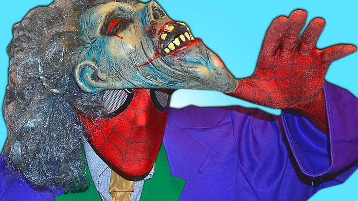 Spiderman Crazy DREAM! w/ Scary Joker Zombie Superheroes in real life IRL.