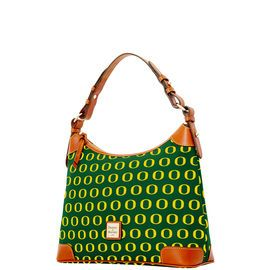 NCAA College Basketball/ March Madness | Dooney & Bourke | NCAA Oregon Hobo  NCAA | Basketball Handbag | Basketball Accessory | Basketball Accessories | Basketball Purse | Fashion | Style