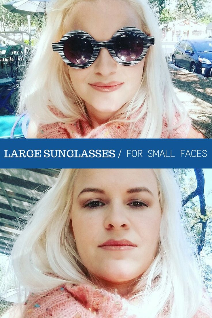Love this brand!  Large sunglasses for small faces.  Finally.