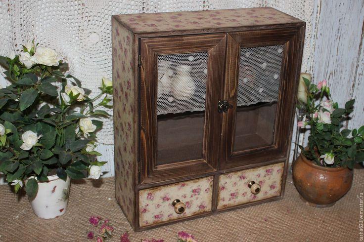 Купить Шкфчик деревенский - коричневый, Шкафчик, шкаф, детская мебель, мебель для детской, декупаж мебели