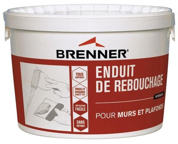 Chantier n°3 - Je rénove mes murs // Enduit de Rebouchage - BRENNER  Prêt à l'emploi. Permet de reboucher les trous, fissures et saignées sur la plupart des supports