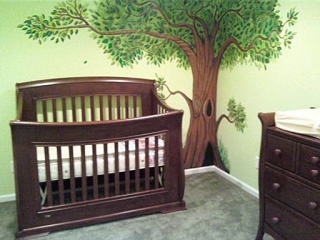 kids tree to paint on wall | Re: team green!?....what color are you painting your nursery?