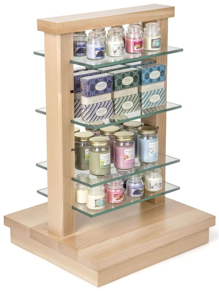 Wood Post Display Gondola With Removable Shelves Glass Shelves Glass Shelves In Bathroom Glass Shelves Kitchen