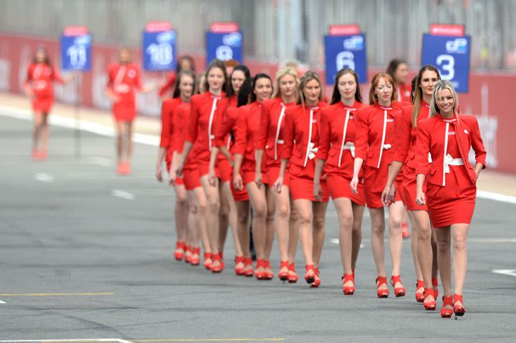 Grid girls at Silverstone
