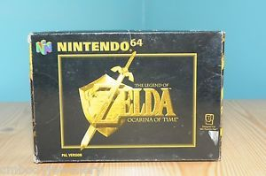 NINTENDO N64 GAME CART - ZELDA, OCARINA OF TIME - BOXED BUT NO INSTRUCTIONS