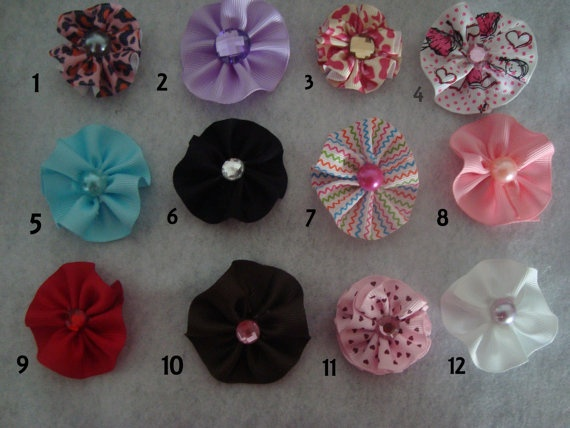 Your Choice of Multicolored  Ribbon Flower by UnPetitPapillon, $1.50