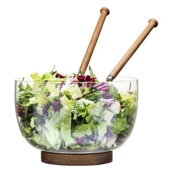 Oval Oak Serving Bowl ($38) ❤ liked on Polyvore featuring home, kitchen & dining, serveware, oval serving bowl, sagaform and salad serving bowl