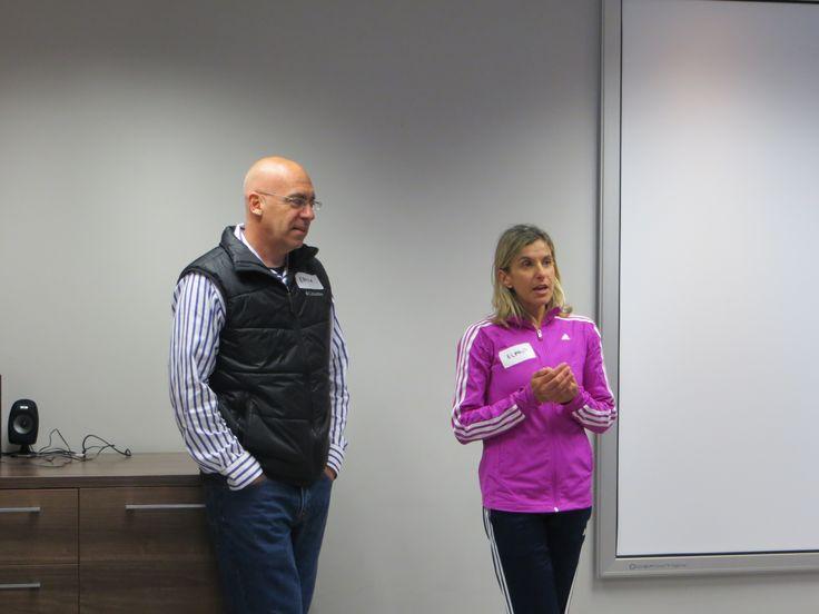 Elana Meyer with Coach Ernie Gruhn