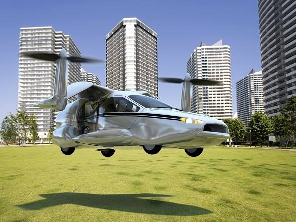 Ilustração de como poderá ser o carro voador Terrafugia TF-X