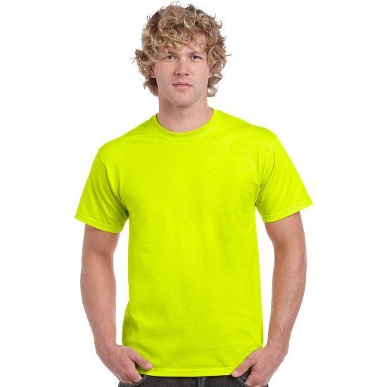 Neon kleurige gele shirtjes  Reflecterend geel/gele neon fel kleurige t-shirts. Zeer opvallend neon t-shirt. Geschikt om op te vallen voor werk of op een feest. Materiaal: 100% katoen. Dit artikel is zowel voor heren als voor dames geschikt. Pasvorm: normal-fit.  EUR 8.95  Meer informatie