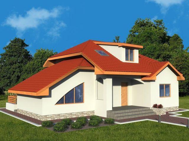 Casa cu mansarda 1010