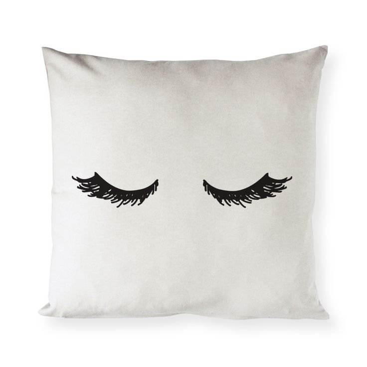 Mascara Eye Lashes Bed Pillow Cover and Cushion