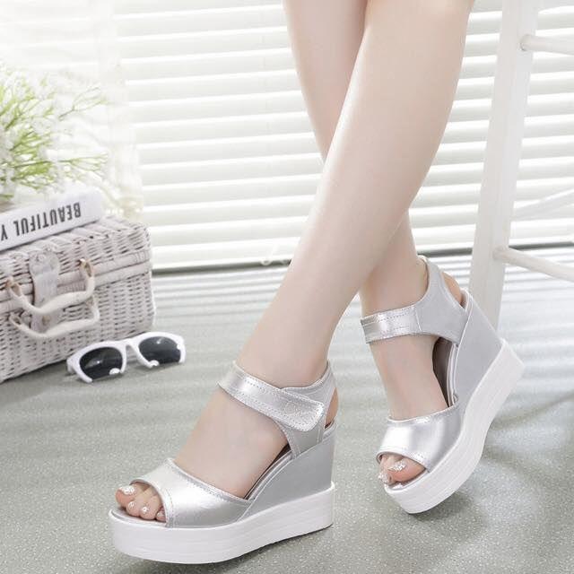 Summer Women Sandals Platform Wedges Sandals 2016 Cow Leather Shoes Woman High Heel Shoes Sandals Women Sandal Shoe