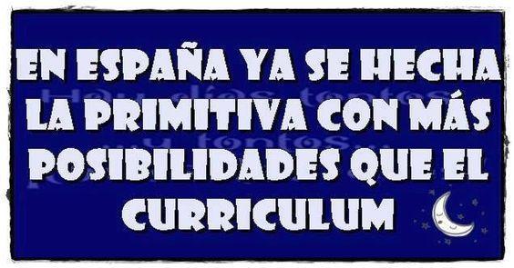 la primitiva o el curriculum