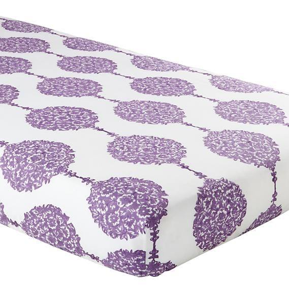 Baby Crib Bedding: Baby Purple Patterened Crib Bedding Set | The Land of Nod trendy family must haves for the entire family ready to ship! Free shipping over $50. Top brands and stylish products �