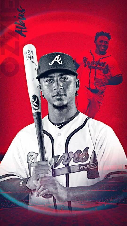 Ozzie Albies 2018 Atlanta Braves Baseball Atlanta Braves Wallpaper Braves Baseball