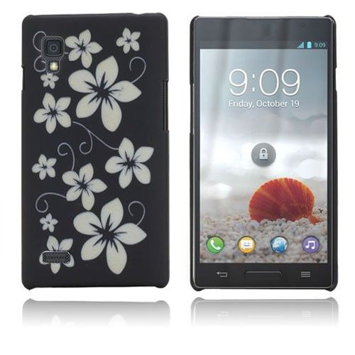 Flowers (Black) LG Optimus L9 Case