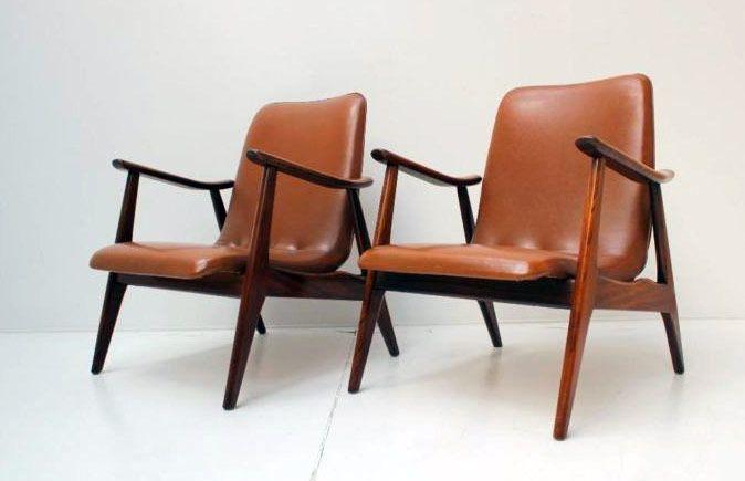 Vintage Retro jaren 50 60 Fauteuils 2x