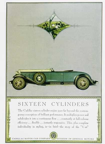 Vintage Cadillac V16 Advertisements of the 1930s (Page 3)
