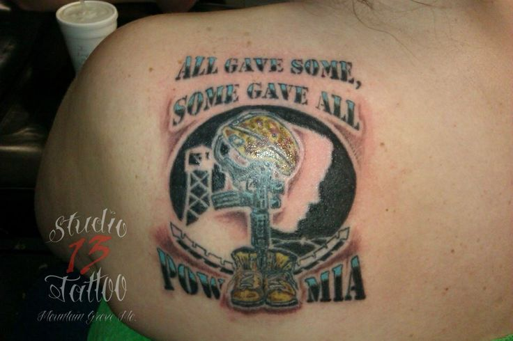 27 best images about tattoo military on pinterest for Pow mia tattoo