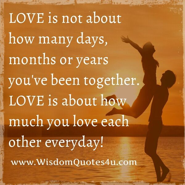 I have been with my husband 29 yrs and every day I find something that makes me fall in love all over again. Believe me there are days that aren't good but we seem to always work through because of the strong bond/love we have for one another. I was very blessed God sent him my way. ~Denice Richards