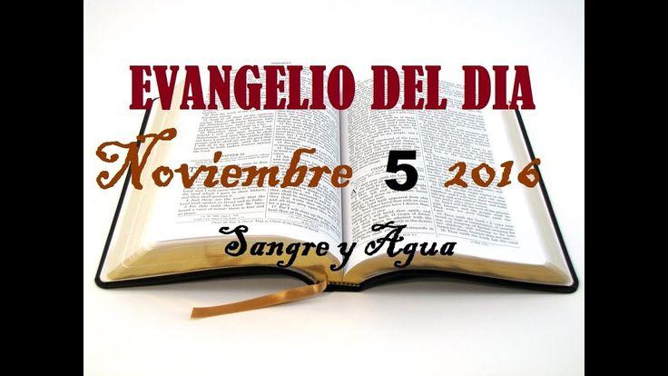 Evangelio del Dia- Sabado 5 de Noviembre 2016- Sangre y Agua