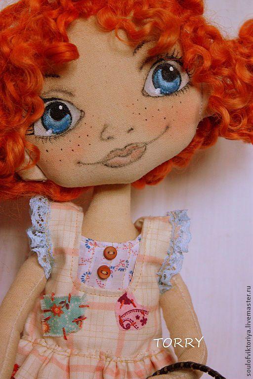 Купить Пеппи Длинный чулок - оранжевый, коллекционная кукла, коллекционная игрушка, авторская ручная работа
