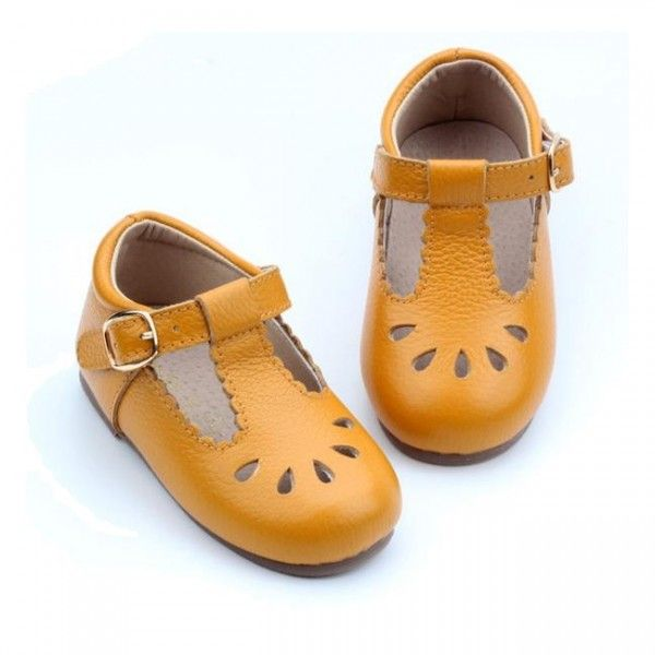 #Brighton #TBarButterscotchShoes By Anchor & Fox. For more detail visit @  https://goo.gl/uBg3wj   #TheWorldBoutique #BabyProducts #babyshoes