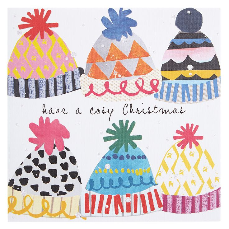 Christmas Bobble Hats Card