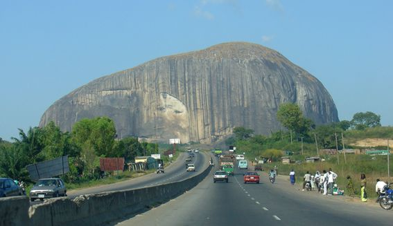 Zuma Rock is a large monolith, an igneous intrusion composed of gabbro and granodiorite that is located in Niger State