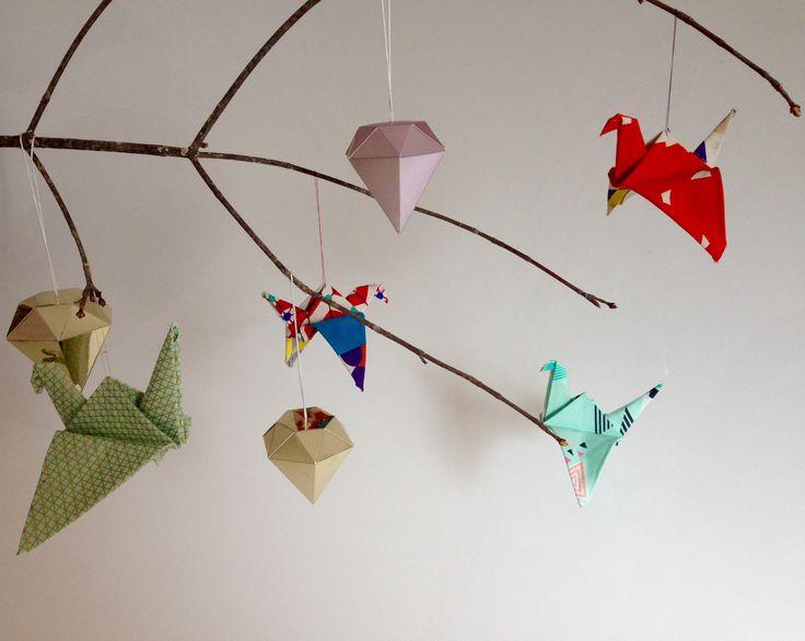 Origami aus Stoff.