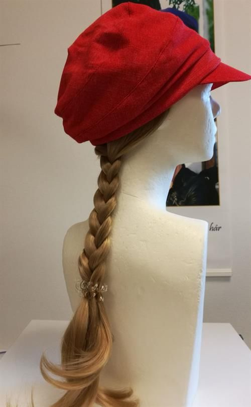 Long hair piece for cancer patient sewing on a bamboo hair band