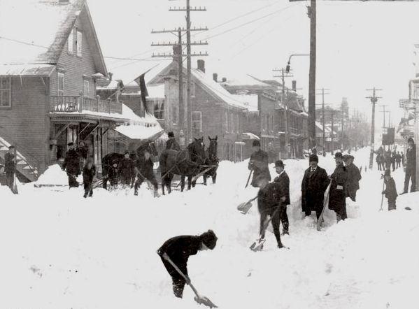 Comté de Richmond, mai 1898 Tempête de neige !