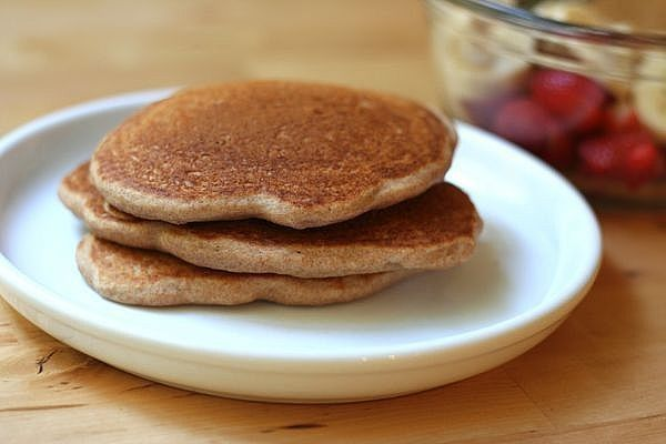 """My Healthy Pumpkin Pancakes are a Fall favorite at my house. Th pumpkin replaces most of the oil in these pancakes making them """"light"""" fluffy and delicious!"""