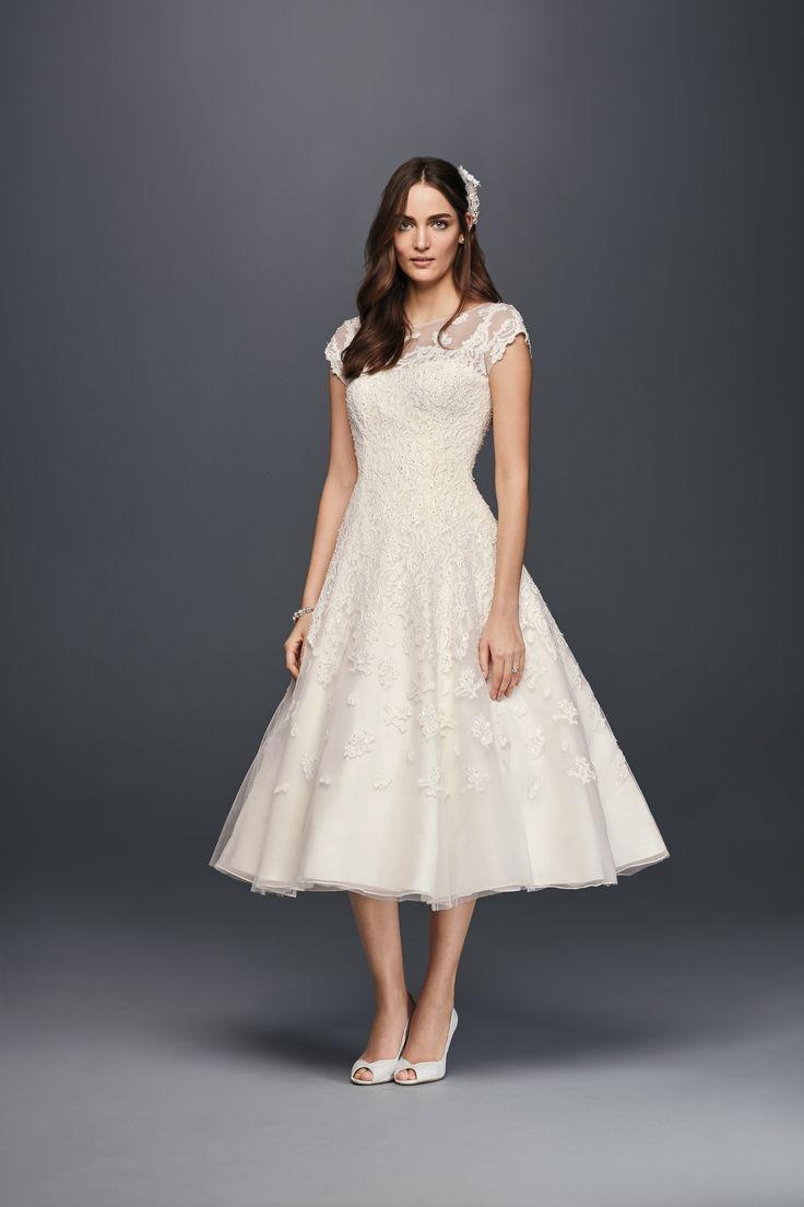 17 best images about oleg cassini wedding dresses on for Oleg cassini wedding dress tea length
