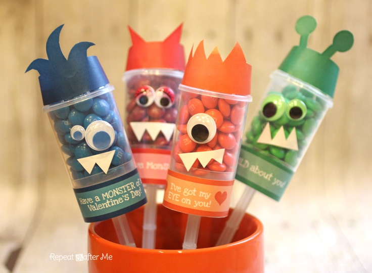 """Repeat Crafter Me: Monster Push Pop Valentines    """"LOVE THIS"""" - Courtney Whitmore"""
