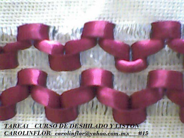 CURSO DESHILADO CON LISTON E HILO,ENVIE TAREA 2