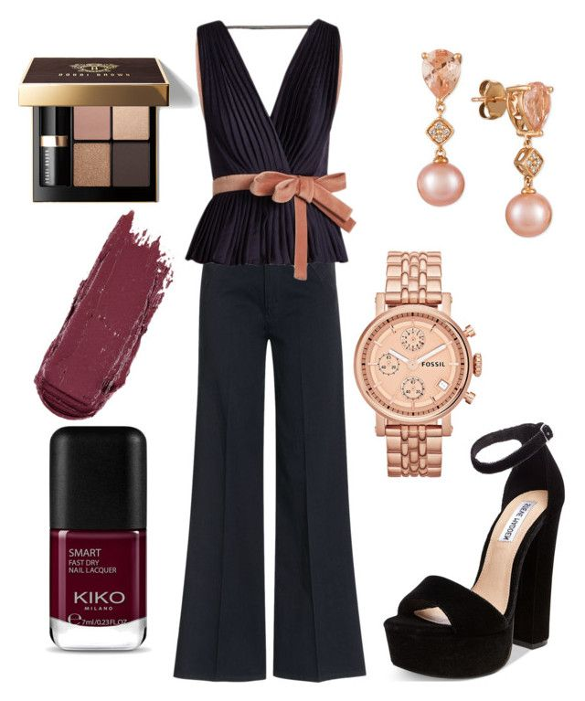 """Untitled #122"" by bee100 on Polyvore featuring dVb Victoria Beckham, Roksanda, Steve Madden, FOSSIL, LE VIAN and Bobbi Brown Cosmetics"
