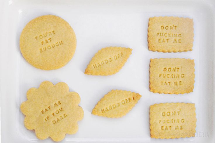 if you are on a diet... better read this biscuits! by #fonderia   http://fonderia.tumblr.com/post/16460282385/dietbisc