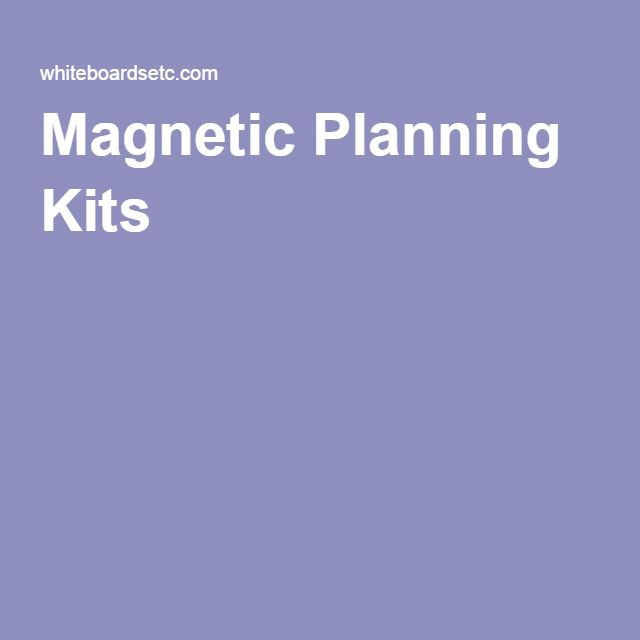 Magnetic Planning Kits