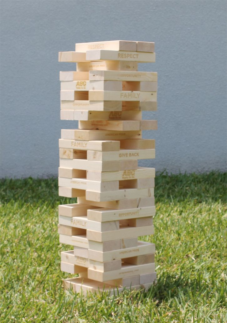 how to build a jenga tower