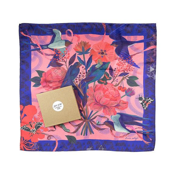Limited Edition Printed Silk Scarf / Thumbelina