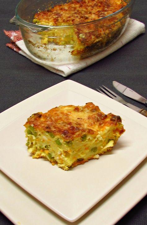 Házias konyha: Zöldséges-túrós tésztafelfújt